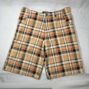 Kenpo Casual Plaid Mens Shorts Size 34